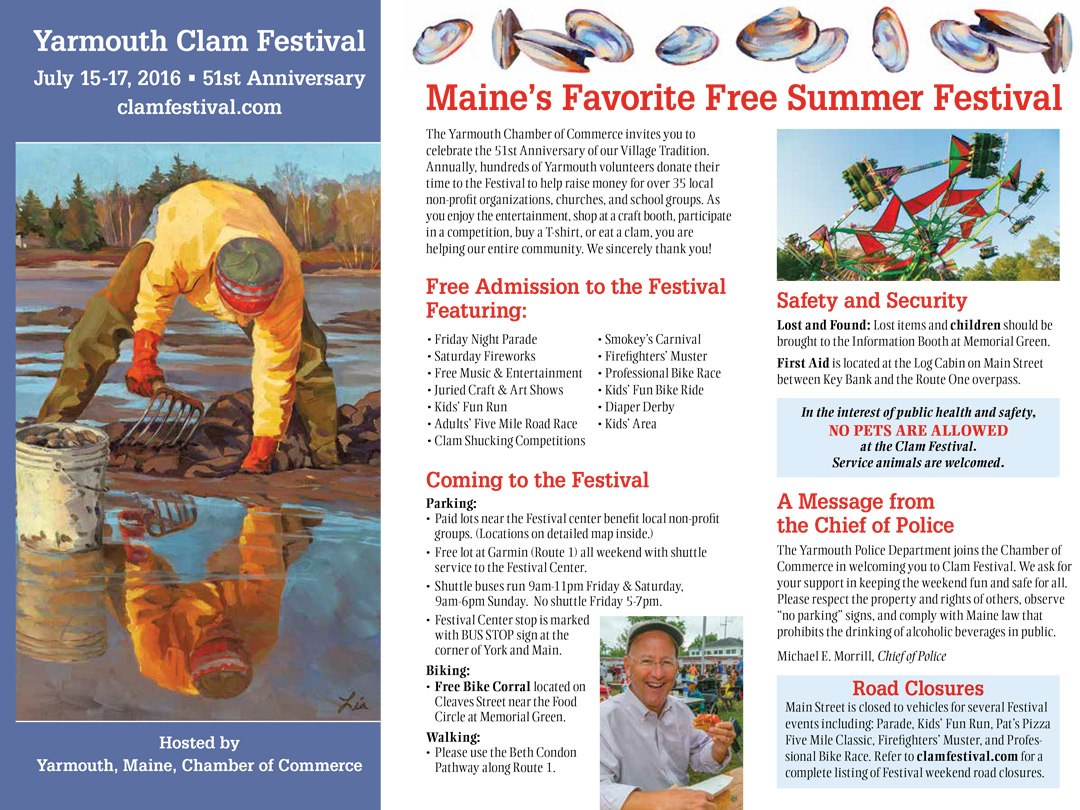 Clam Festival Brochure